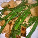 Kellys sweet n spicy leftover chicken and asparagus